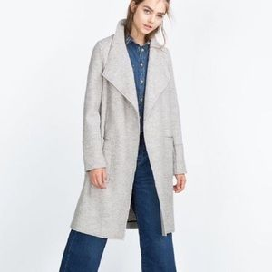Zara Trafuluc boiled wool over coat